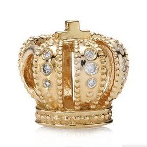 Pandora 14K Gold Royal Crown Charm RARE